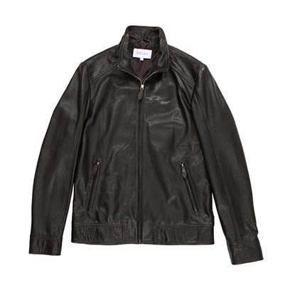 Reiss brown leather jackets