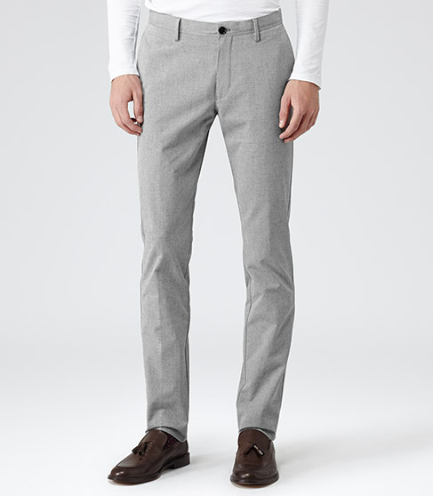 reiss grey trousers